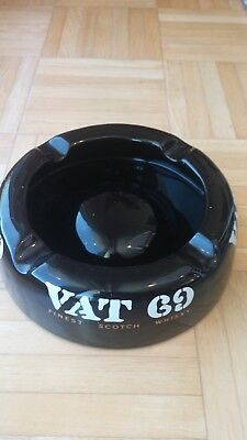 Very Large And Heavy Vat 69 Finest Scotch Whiskey Ashtray-Excellent Condition!!!