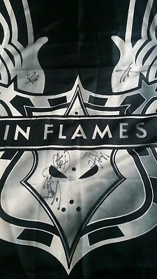 In Flames original signature signed flag poster tapestry shirt 105x75