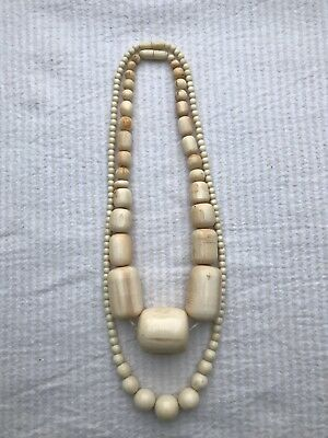 Kugel Kette Bein vor 1900 alt rar 143 Gramm antic real old bone necklace