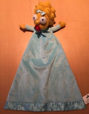 Maggie Simpson (The Simpsons) Soft Toy Blue Baby Blanket Universal Studios 2014