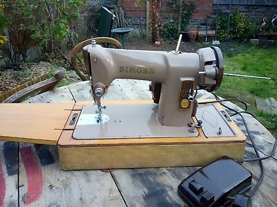 Heavy Duty Singer 185K Electric Sewing Machine,sews Leather,  &  oiled tools