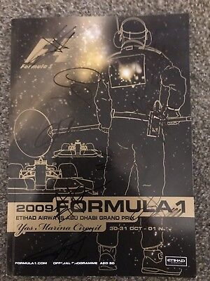 2009 Abu Dhabi F1 Program Signed By 38 Drivers And Bosses