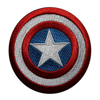 Captain America Shield Embroidered Iron On Patch - Marvel Comics Avengers 130-M