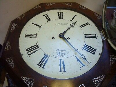 Rosewood Double Fusee Wall Clock