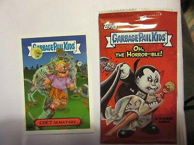GARBAGE PAIL KIDS, Oh, The Horror-ible, Pet Sematary, Stephen King, Halloween