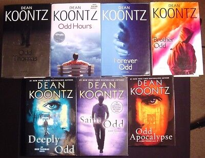 Complete Set Series Lot Of 7 Odd Thomas Hardcovers By Dean Koontz