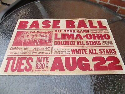 National Negro Baseball League Poster