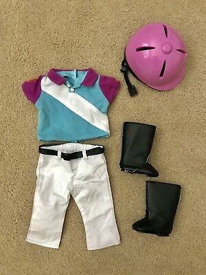 American Girl Sporty Equestrian Horse Pony Riding Outfit Retired EUC Helmet