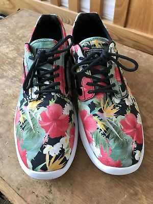 Vans Trainers Size 9 Mens Floral Festival Off The Wall Summer Ultracush Lite