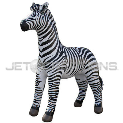 2 PACK Inflatable Zebra Lifelike 88 Inch Collectible Home Garden Decor Display