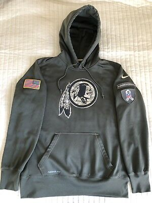 wholesale dealer 31061 6735c NIKE WASHINGTON REDSKINS Salute To Service Hoodie Pullover L NFL Football  USA