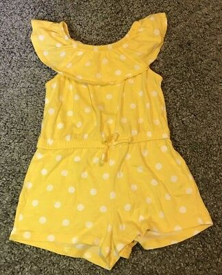 Ruffle-Neck Jersy Romper For Toddler Girl 3t