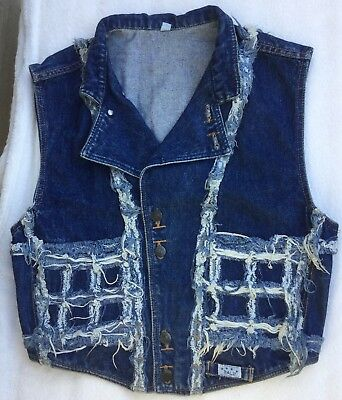 Vintage Denim Waistcoat 38in Chest