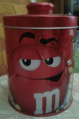 M & M Red Canister