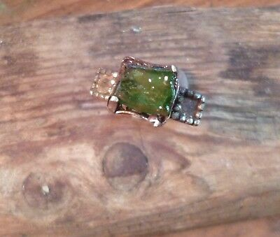 Gorgeous Late Medieval/Tudor Ring with Green Glass-British Detecting Find