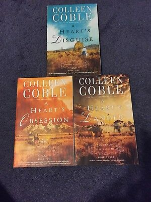 Lot Of 3 Colleen Coble Books -Journey Of The Heart 1-3 Disguise Obsession Danger