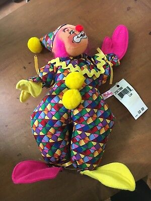 Annalee Dolls 1999 Large Clown With Original Tag New Made In USA