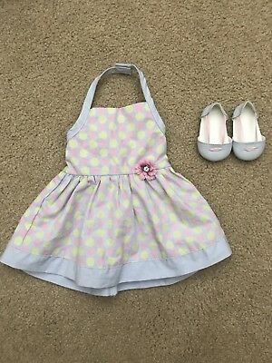 American Girl Chrissa Sundress Dress & Shoes Outfit Retired EUC