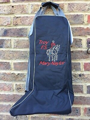 PERSONALISED embroidered Long Boot Bag **Various Colours**