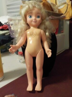 Nice 2004 Disney's Playmates Doll- Cinderella- Sings Will You Sew With Me
