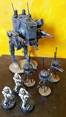Star Wars- Imperial Assault- VILLIANS PAINTED--AT-ST