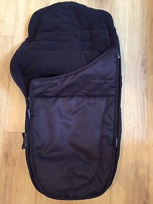 iCandy Apple 2 Pear Luxury Footmuff Caviar Black Excellent Condition