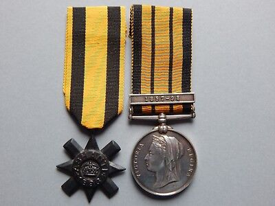 Ashanti Star and East & West Africa Medal 1897-98 Group Gold Coast Constabulary