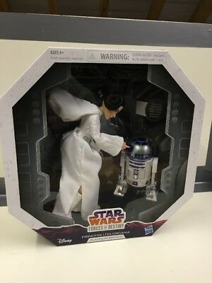 Star Wars Forces Of Destiny Princess Leia Organa Platinum Edition Doll And R2 D2