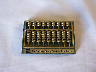 Vintage small Bronze and marble abacus paper weight collectable Amex 1 owner