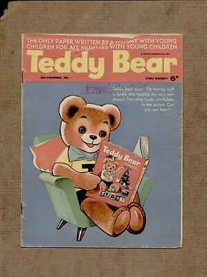 Teddy Bear  Children's Comic - 5th December 1964 - Nursery comic