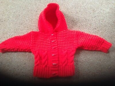 946b9a0f5 BABY GIRL HAND Knit Red Jumper Size 6-9 Months - £3.60