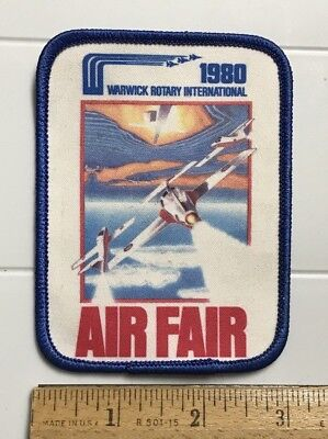 Air Fair 1980 Warwick Rotary International Air Show Printed Graphic Patch Badge