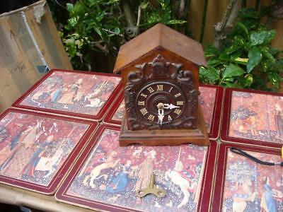 ANTIQUE Black Forest  Cuckoo Mantle Clock For Restoration or Spare / Repair