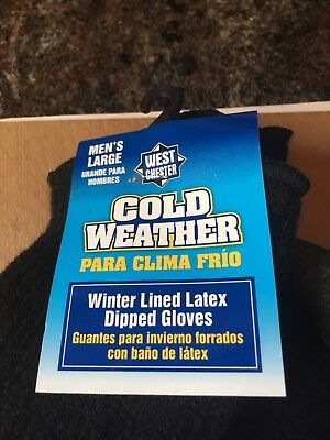 Men's West Chester Cold Weather Winter Lined Latex Dipped Gloves