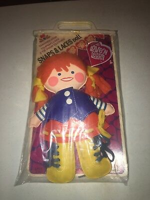 1971 Remco Love N Learn Snaps & Laces Doll Complete Vintage Toy