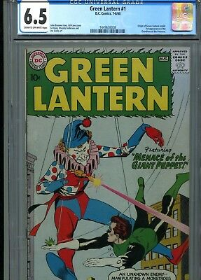 Green Lantern 1 CGC 6.5 C/OW Pages Origin Retold 1st Guardians of the Universe