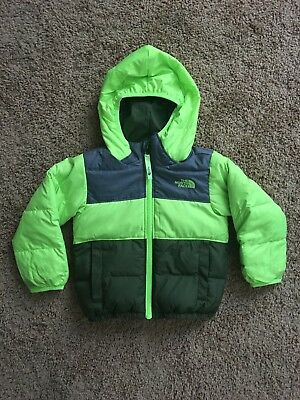 Toddler boys The North Face Moondoggy puffer green jacket size 2T