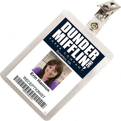 The Office Erin Hannon Dunder Mifflin ID Badge Cosplay Costume Name Tag TO-6
