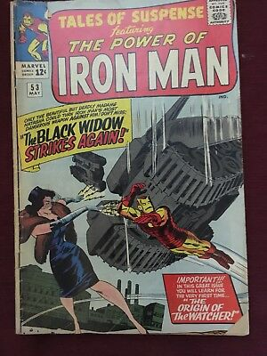 Tales Of Suspense #53 2nd Black Widow-Iron Man VG/ FN Marvel Silver Age 1964
