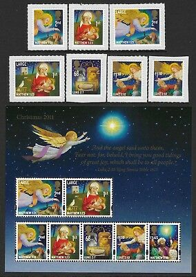 "GB. 2011.""CHRISTMAS."" 1 SET OF 7 STAMPS + 1 MINI SHEET. MNH. FV £12.96p."
