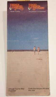 Vintage Official Tourist Road Map - Prince Edward Island - 1970's Edition