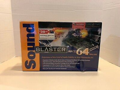 Creative Labs Sound Blaster (Model SB4500) AWE64 Value Sound Card - NEW Sealed