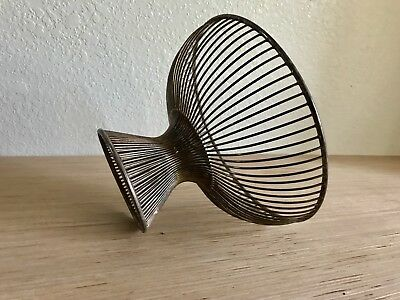 Mid Century Fruit Basket In the Style Of Warren Platner Vintage