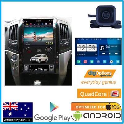 'Navigation Bluetooth Head Unit Stereo DVD GPS Cam For Toyota Land Cruiser 200