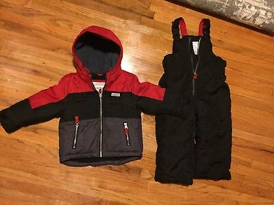 526e9a11980e Boys winter Jacket Snow pants set Carters Toddler size 3T Gray Orange NEW