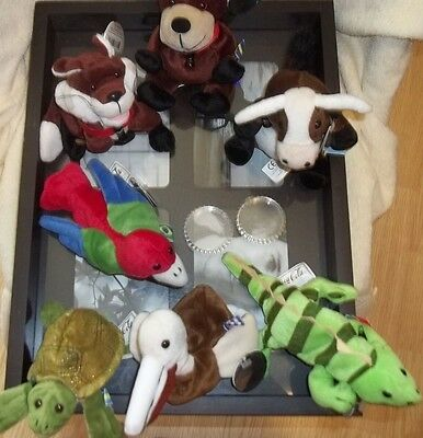 coca cola international collection plush animals of the world lot of 7