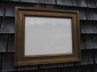 """ANTIQUE AMERICAN HAND CARVED 1930s ARTS & CRAFTS PAINTING FRAME, FITS 14X11 """""""