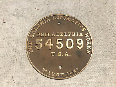 Baldwin 2-10-2 Builders Plate - Southern Pacific
