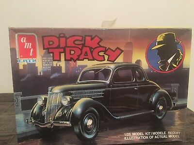 1990 Amt Ertl Dick Tracy 1/25Th Scale Model Not Put Together In Box