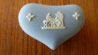 Wedgewood Blue Heart Shaped Trinket Box With Lid